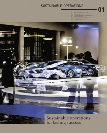 Sustainable operations for lasting success - BMW Group