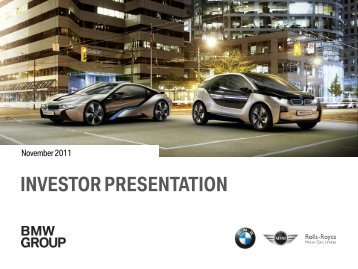 Investor Presentation, November 2011 - BMW Group