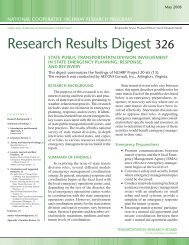 Research Results Digest 326 - Transportation Research Board