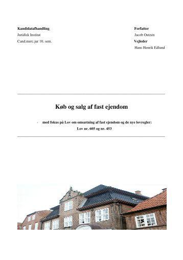 Afståelse af fast ejendom med fokus på - PURE