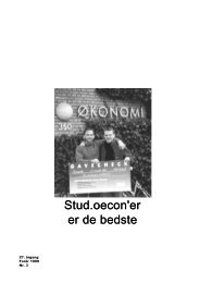 Stud.oecon'er er de bedste - School of Economics and Management ...