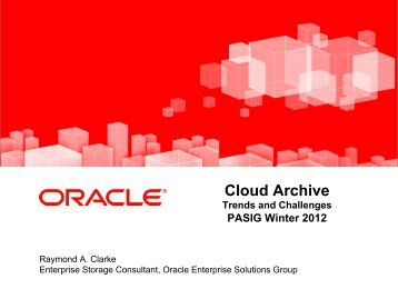 Cloud Archive Trends and Challenges - (lib.stanford.edu) include
