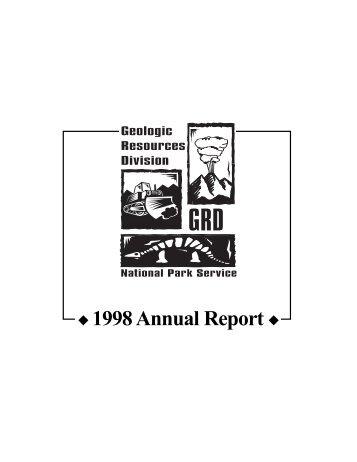 x 1998 Annual Report x - Explore Nature - National Park Service