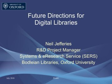 Future Directions for Digital Libraries - active