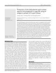 Production of anti-Helicobacter pylori urease- specific ...