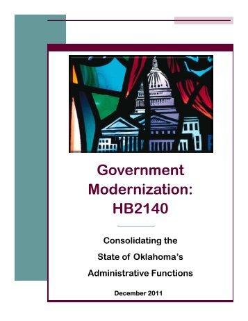 Government Modernization - State of Oklahoma Web Site