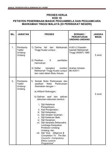 18(Negeri) - Laman Web Rasmi Pejabat Ketua Pendaftar Mahkamah