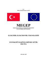 Fotokopi Makinelerinde Optik Okuma - Milli Eğitim Bakanlığı