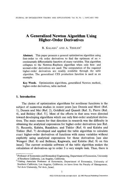 Newton method optimization