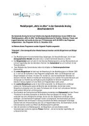 """Modellprojekt """"Aktiv im Alter"""" in der Gemeinde Anzing ..."""