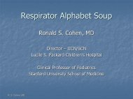 Respirator Alphabet Soup - Stanford University
