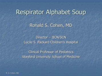 Respirator Alphabet Soup - Stanford University