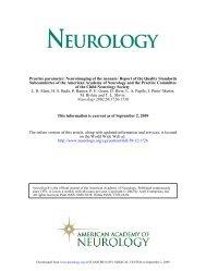 Practice Parameter: Thymectomy For Autoimmune     - Neurology