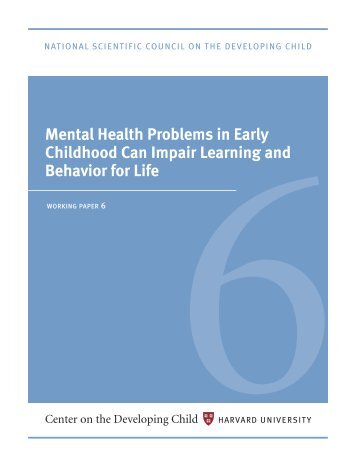 mental health problems in early childhood can impair ... - Intraspec
