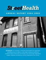 Street Health Annual Report - 2004-2005 - Intraspec