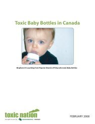 Toxic Baby Bottles in Canada - Canadian Partnership for Children's ...