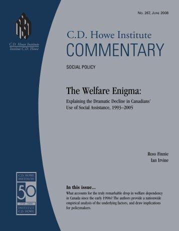 The Welfare Enigma - CD Howe Institute