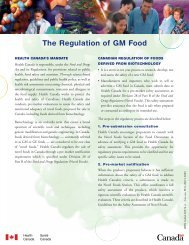 The Regulation of GM Food - Intraspec