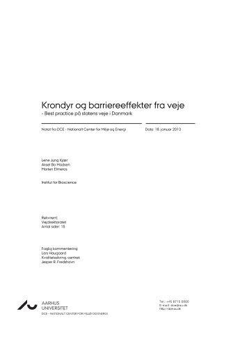 Krondyr og barriereeffekter fra veje.docx - DCE - Nationalt Center for ...