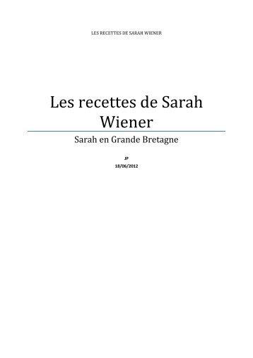 Les recettes de Sarah Wiener