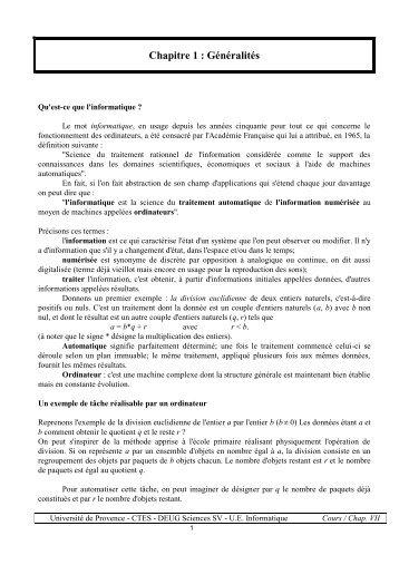 Cours Info Télé Enseignement - Index of