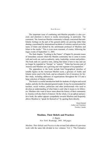 Muslims, Their Beliefs and Practices - I-Epistemology