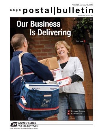 Postal Bulletin 22328, January 12, 2012 - Our Business Is Delivering
