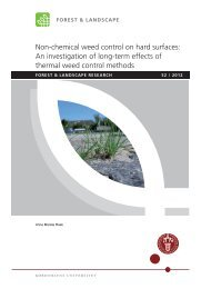 Non-chemical weed control on hard surfaces: An investigation of ...