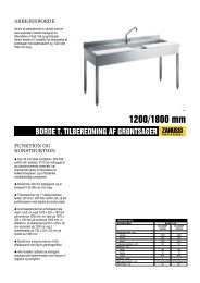 BORDE T. TILBEREDNING AF GRØNTSAGER - Electrolux