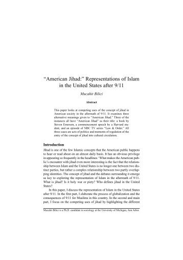 """American Jihad:"" Representations of Islam in the ... - I-Epistemology"