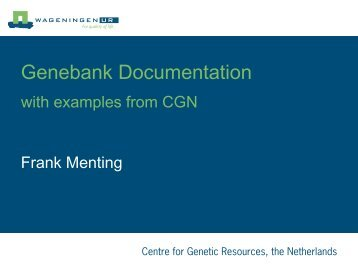Genis: the documentation system of CGN