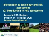 Introduction to toxicology and risk assessment