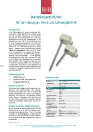 Datenblatt - Temperatur-Shop