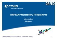 ORFEO Preparatory Programme - Les Missions Scientifiques du ...