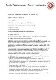 Referat fra generalforsamling 2011 - Danske Fysioterapeuter