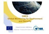 GMES - Les Missions Scientifiques du Centre National d'Etudes ...