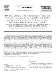 Direct measurements of the ozone formation potential from dairy ...