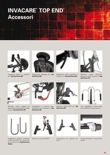 Invacare® Top end® accessori