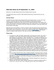 Web Site News As Of September 11, 2003