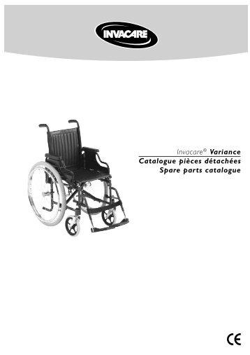 Invacare® Variance Catalogue pièces détachées Spare parts ...