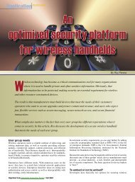 An optimized security platform for wireless handhelds - Embedded ...