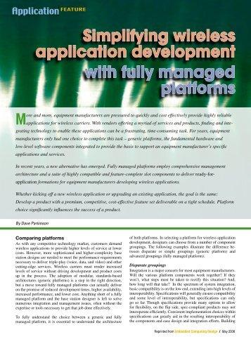 simplifying wireless application development with fully managed - Application Development Job Description