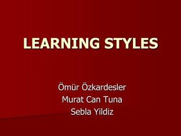 Presentation Learning Styles I