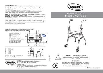 p550/2 actio 2 p550/2-l actio 2-l - Invacare