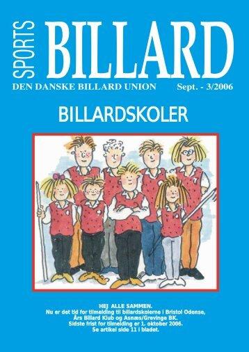 BILLARDSKOLER - Den Danske Billard Union