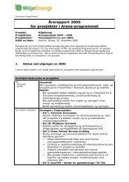 Årsrapport 2005 for prosjekter i Arena-programmet