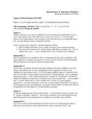 Datastrukturer & Algoritmer, Datalogi C Henning Christiansen 7/10 ...