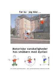 Motoriske vanskeligheder hos småbørn med dysfasi - Danske ...