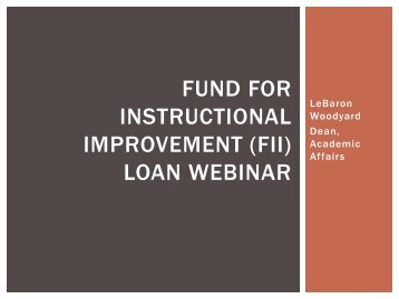 Fund for Instructional Improvement (FII) - System Operations