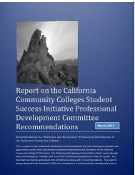 Report on the California Community Colleges Student Success ...